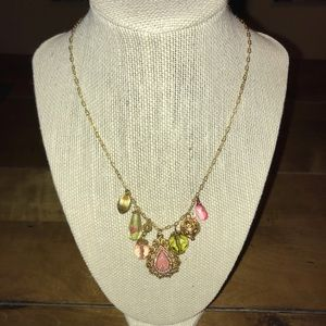 Jewelry - Decorative Pink/Green Hanging Beads/Pendant Chain